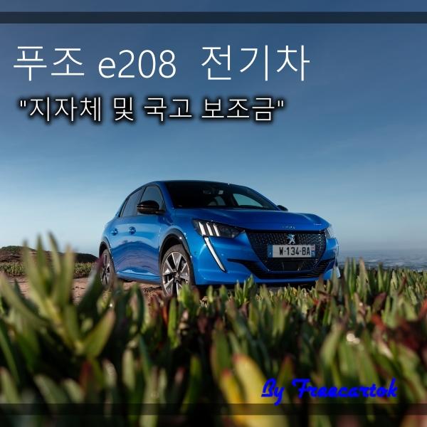 푸조 e208 전기차 가격 보조금 세금 유지비 실구매 가격은?