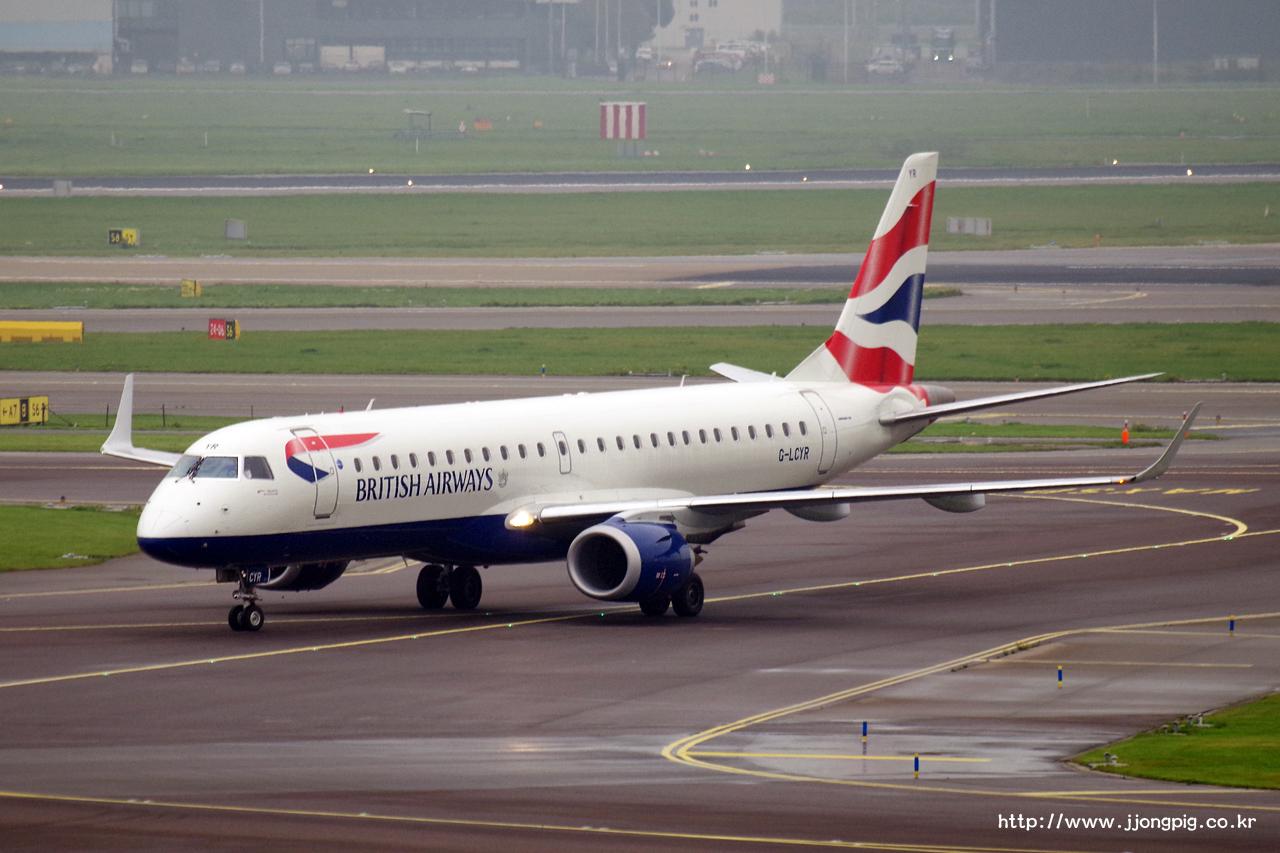 British Airways G-LCYR Embraer E190
