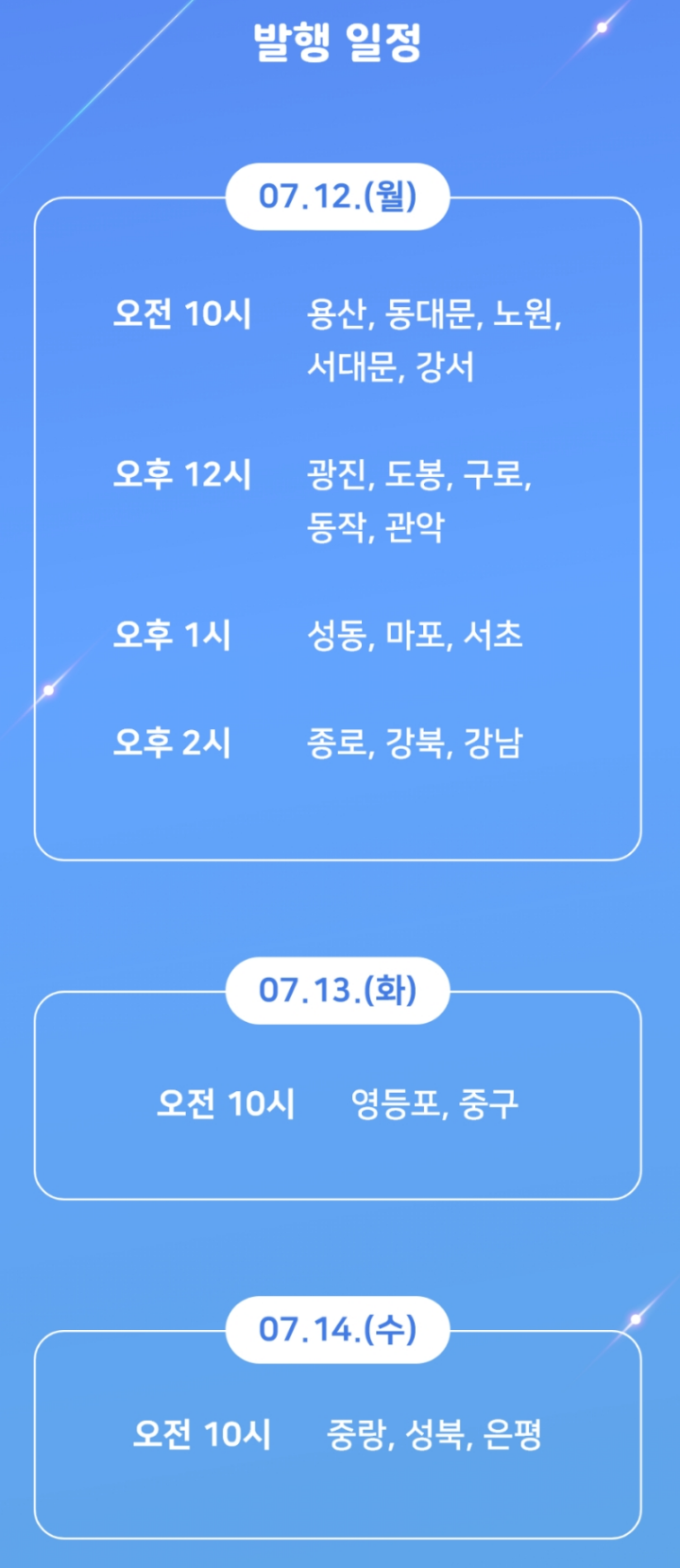 서울사랑상품권-발행-일정