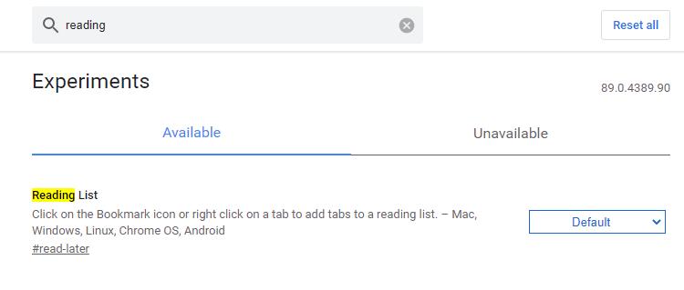 크롬 브라우저 읽기 목록 사용방법 이미지 1