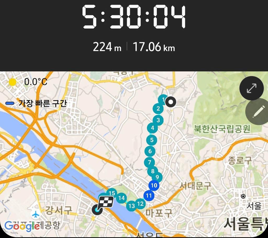 서울둘레길 7코스 완주