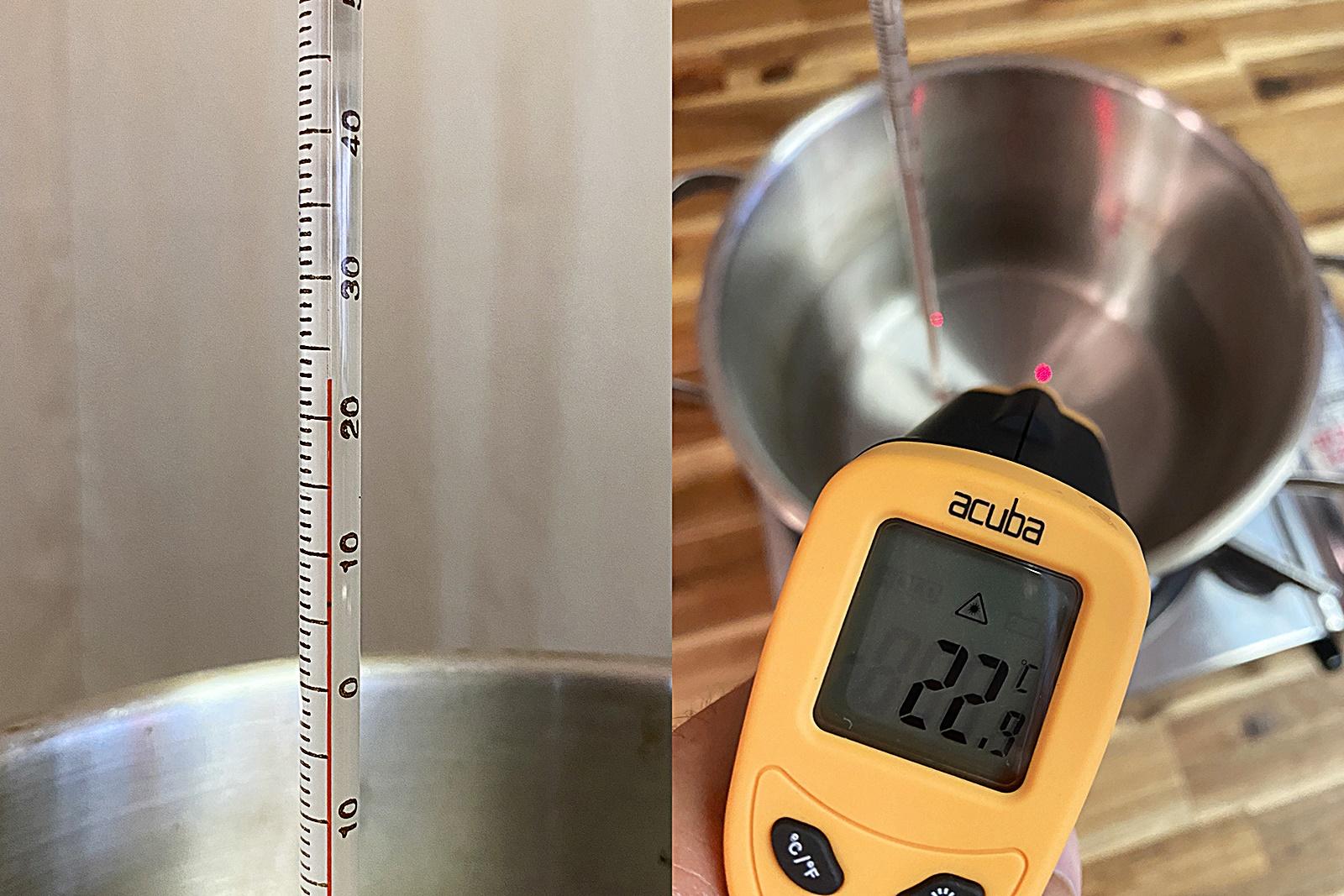 스테인리스 냄비 물 끓이며 온도계 비교 실험 1