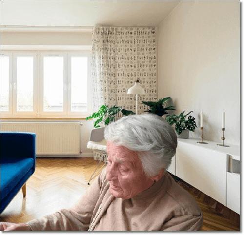 노인성 치매 환자