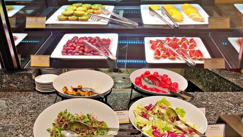 부산호텔조식-과일-야채