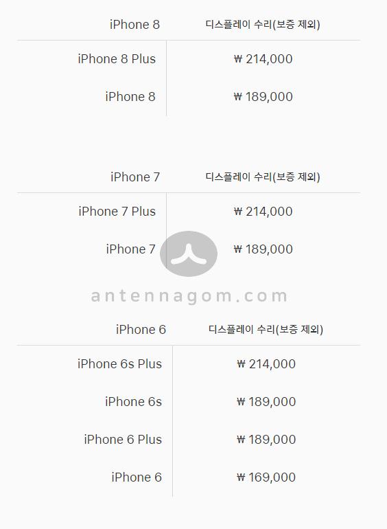 아이폰 액정수리 리퍼비용 3