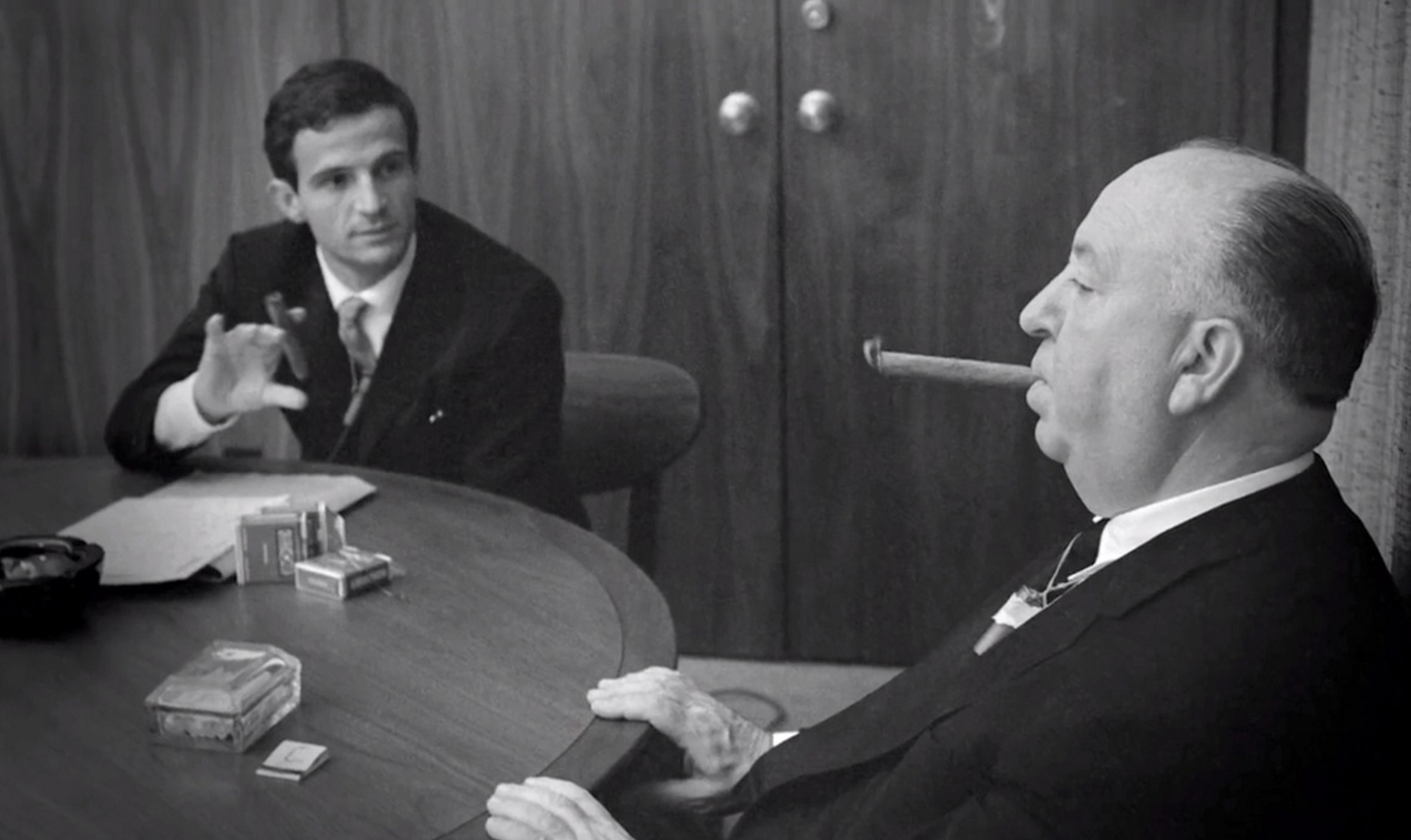 François Truffaut interviewing Alfred Hitchcock, 1962