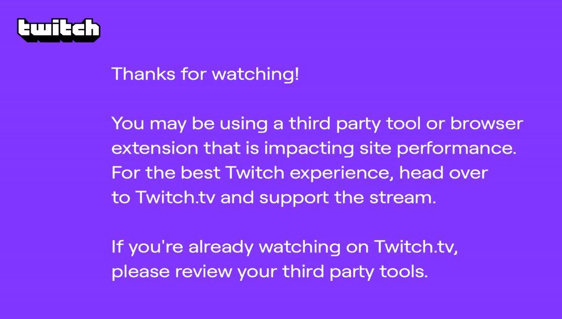 외부 사이트에서 Twitch 재생 시 보라색 화면이 뜨는 증상에 대한 분석 - NOMO의 블로그