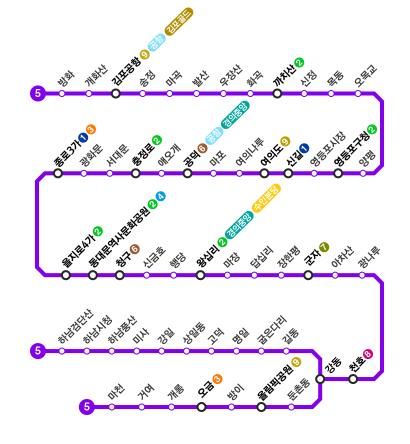 지하철-5호선-노선도