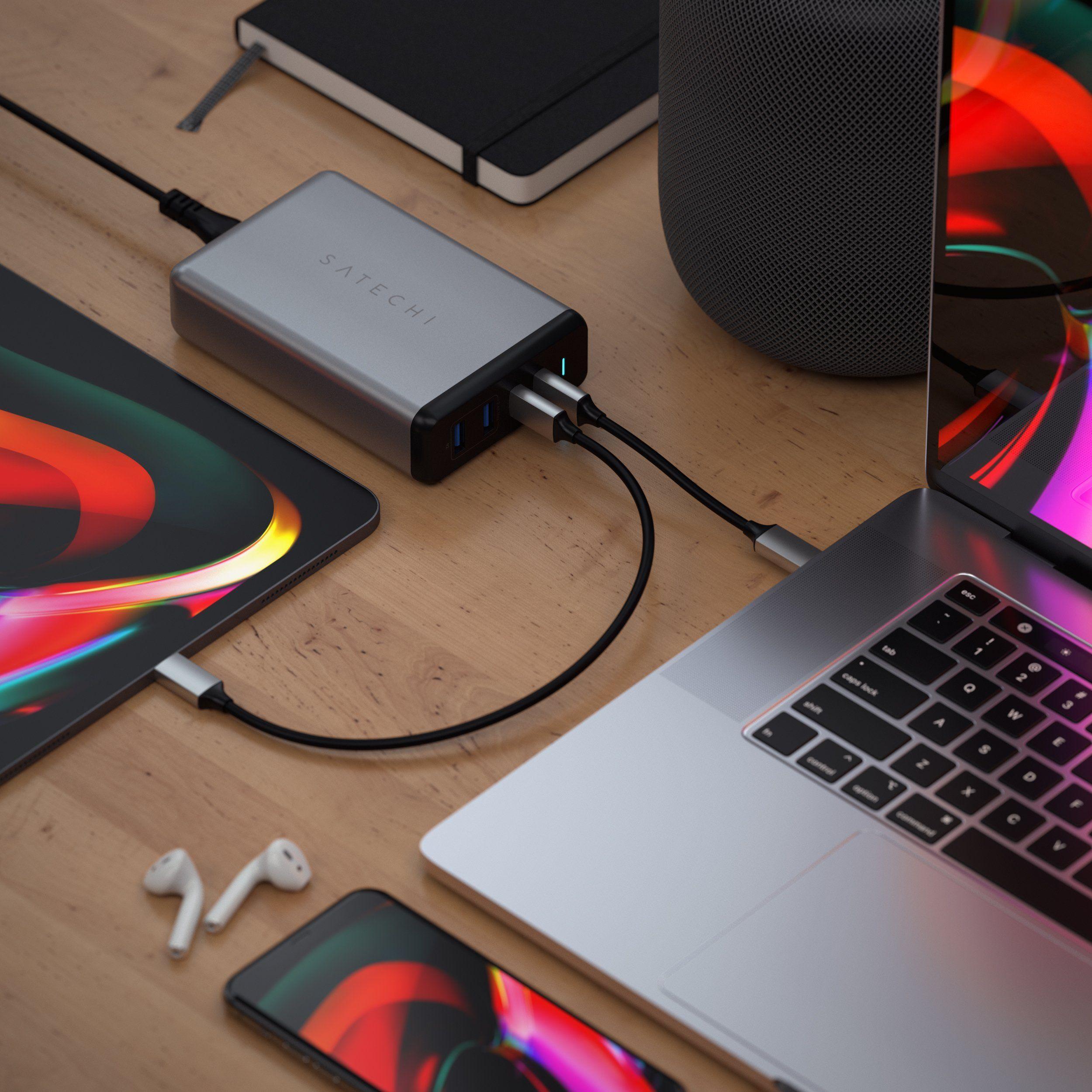 스마트폰, 태블릿, 노트북 충전기를 하나로...사테치, 108W PRO 데스크톱 충전기